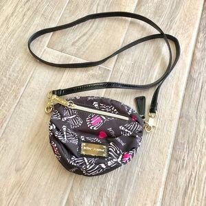 Betsey Johnson mini skeleton heart purse